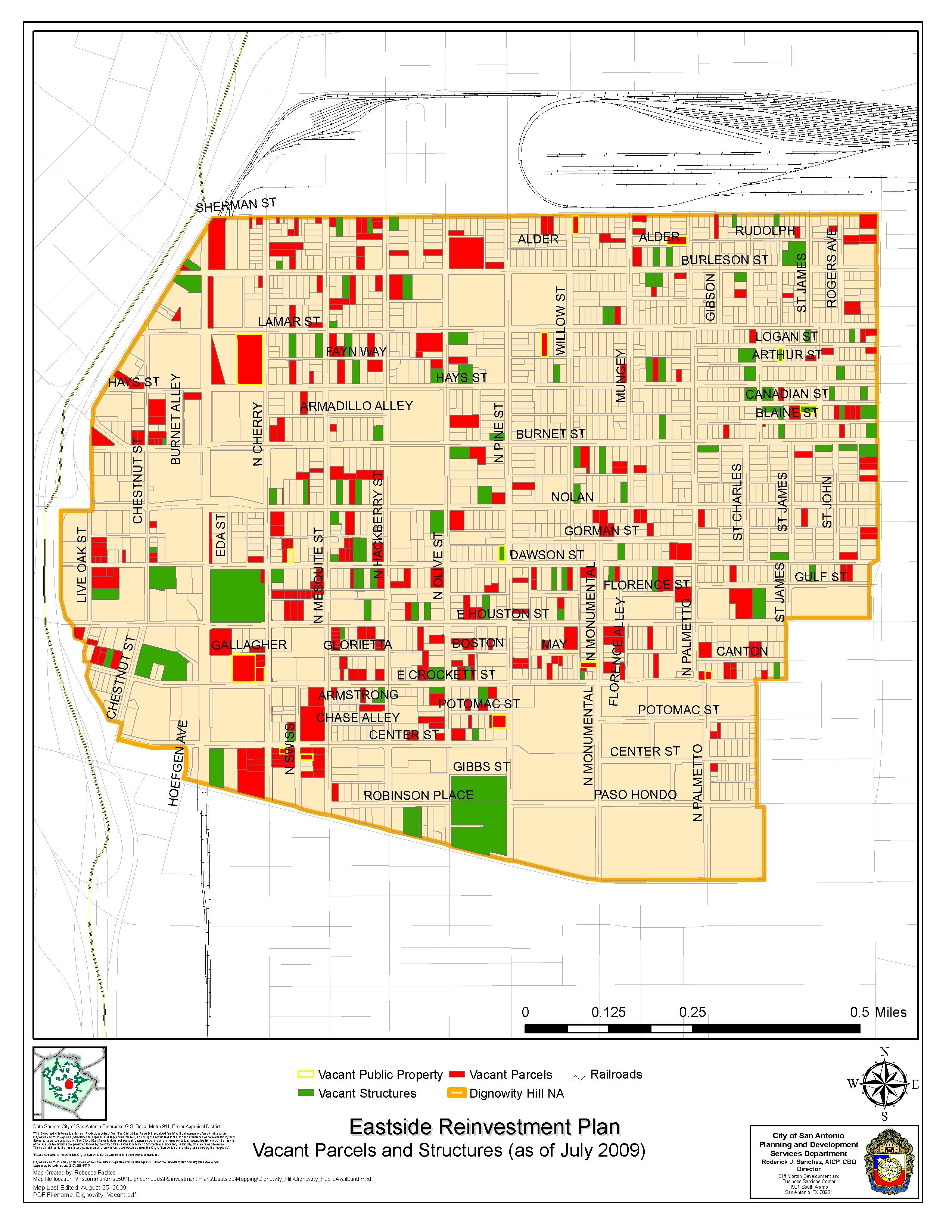 Eastside Reinvestment Area Maps 2009 Community